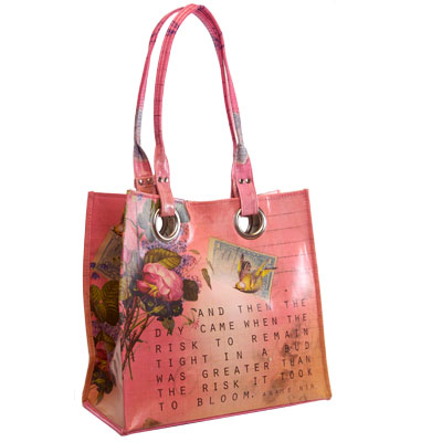 Papaya luxury tote bags from Jumping Tangents online vintage style gift shop NZa