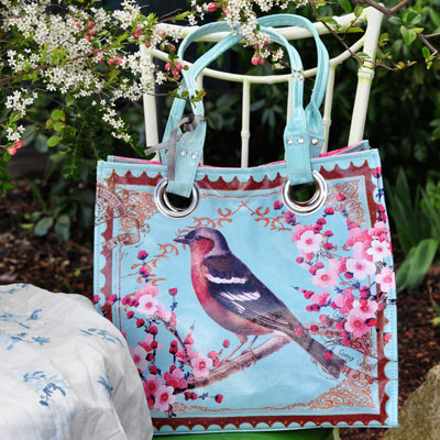 Victorian Bird luxury tote from Jumping Tangents online gift shop NZ